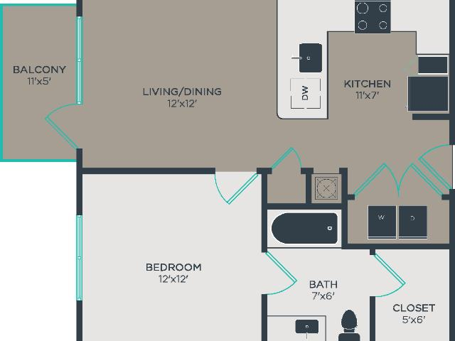 Link Apartments® Glenwood South A1