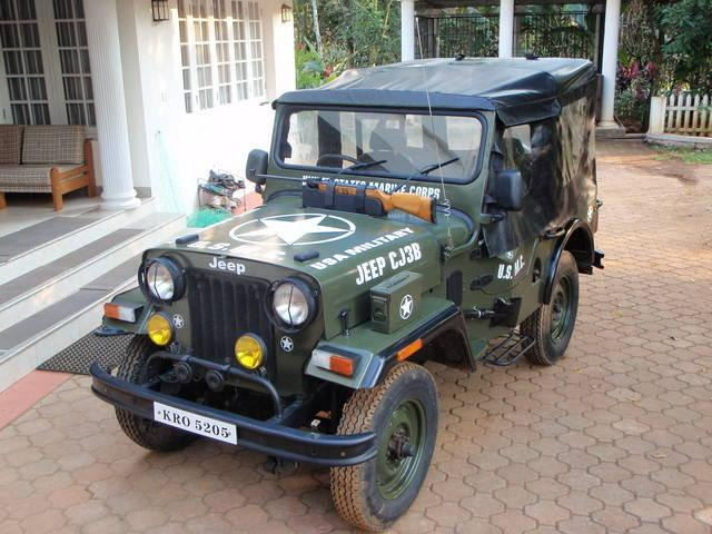 Mahindra 4wd military jeep for sale cut chassis cj 3b 4x4 ex army kochi