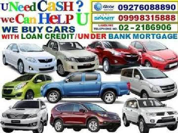 Buying cars under bank mortgaged or with auto loan credit