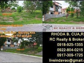 Lots In Robinson's Highlands, Davao