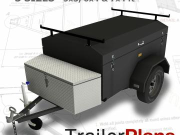 Trailer Plans MOTORBIKE TRAILER PRINTED HARDCOPY 3 Bike Design 7x5ft