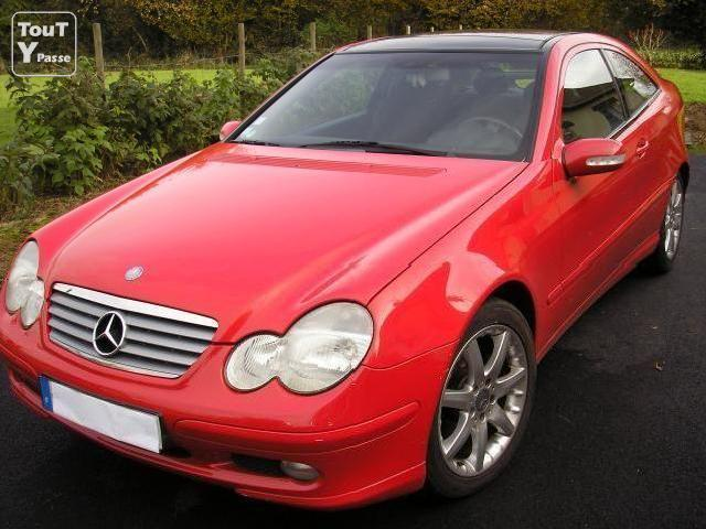 Voitures occasion mercedes benz 220 coupe cdi roug - Mercedes classe c 220 cdi coupe sport occasion ...