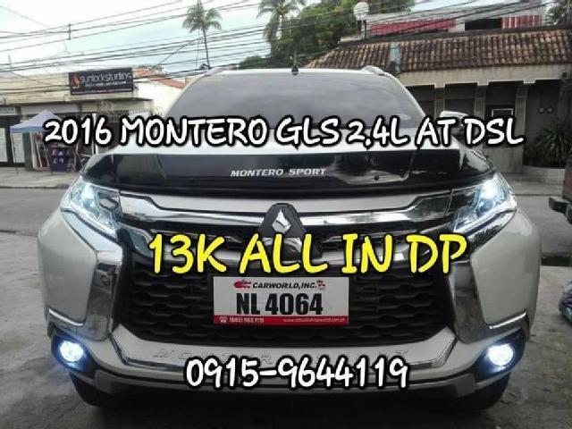 Mitsubishi 2016 diesel 13 00 php 13k dp 016 montero gls 2 4l at dsl