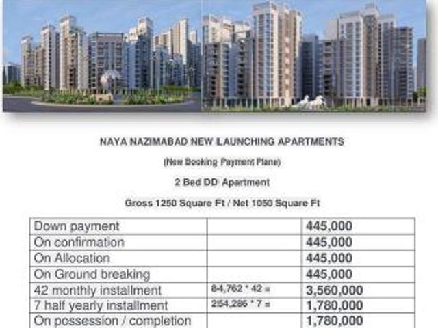 Naya Nazimabad Launching Apartments In A Prime Location And 140 Ft Road Facing