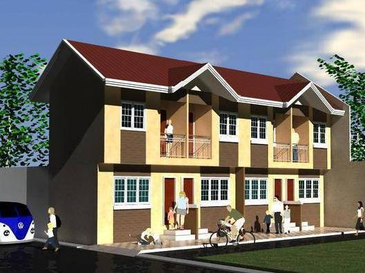 Of Two Storey Apartment Small House Plans Modern