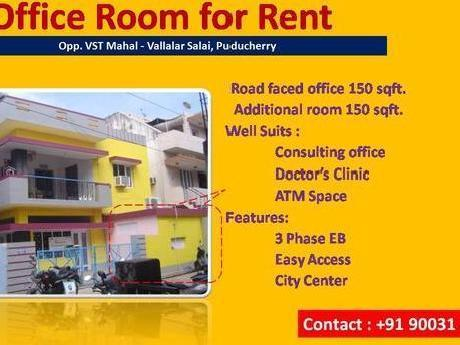 Office With Toilet * Facing Vst Mahal * Long Term Lease