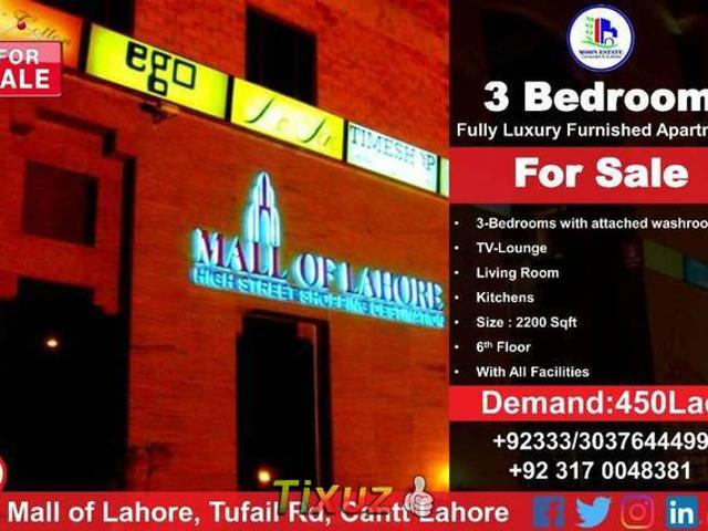 Officers Fully Luxury Furnished Apartment For Sale In Mall Of Lahore