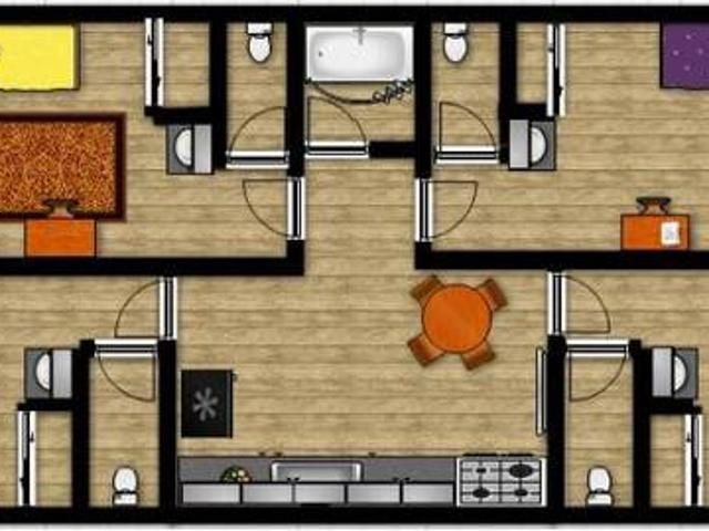 One Bedroom In Four Bedroom Apartment With Private Half Bath Eugene, Or