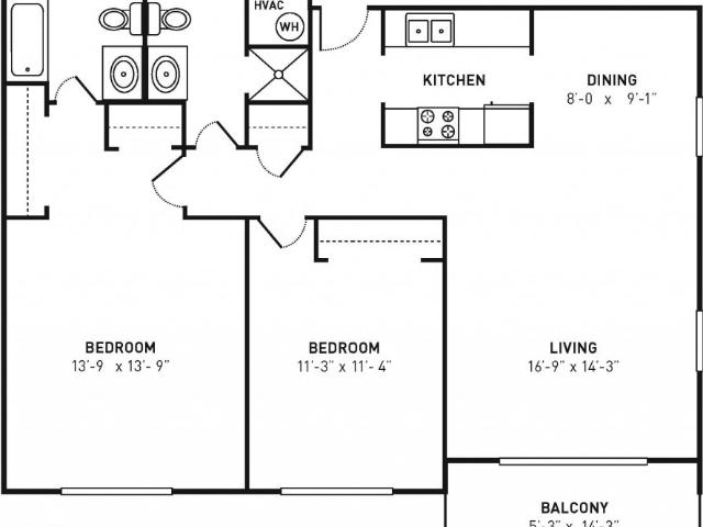 Phillips Place 2 Bedroom Apartment For Rent At 303 North Mendenhall Street, Greensboro, Nc...