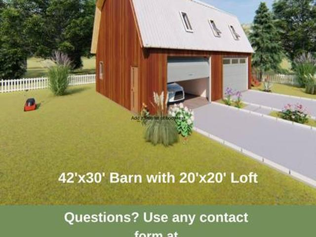Plans 4 Car Barngarage With 2039x2039 Loft Wa, Other Plans And Custom Design Available