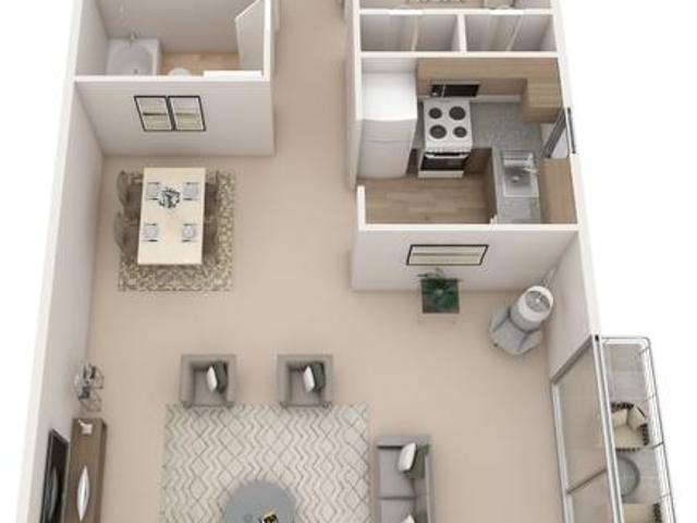 Post & Coach Apartment Homes Two Bedroom 1 Bath