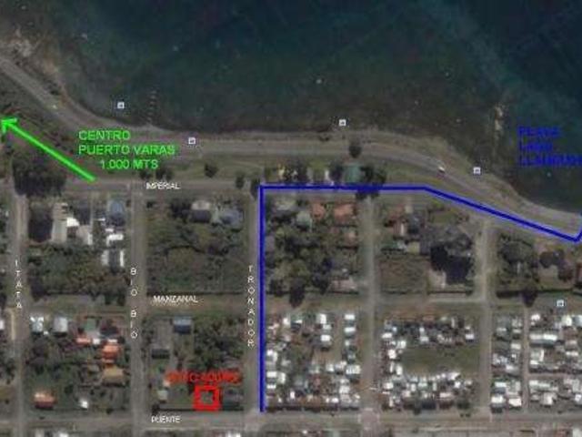 Puerto Varas, Sitio Urbano 400m2, Pasos De Playa Y Centro