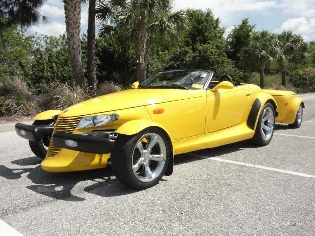 Rare! Low Mileage Yellow 2002 Chrysler Prowler Roadster W/ Trailer *must See