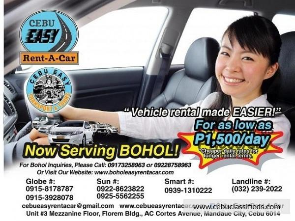 Car for hire for as low as 1 500day cebu city