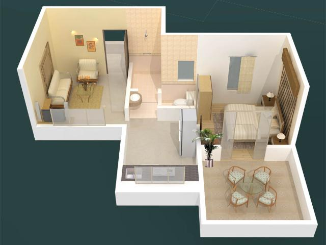 Rental | 1 Bhk 796 Sq.ft. Independent House In Sector 10a