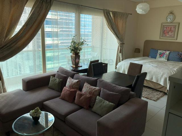 Resale | Furnished Studio With Balcony || Royal Oceanic For Sale In The Royal Oceanic