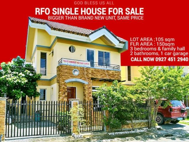Rfo 3br Single House P1.6m To Move In Traditional Construction, Quiet Community, Free Titl...