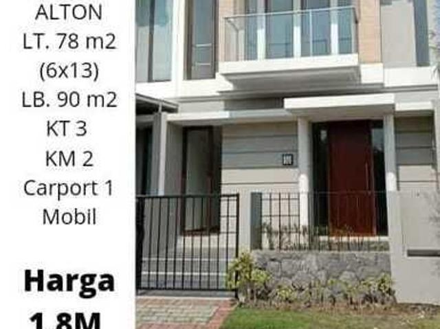 Rumah Pantai Mentari Type Alton Under 2m Free Ppn Dan Bphtb Siap Kpr