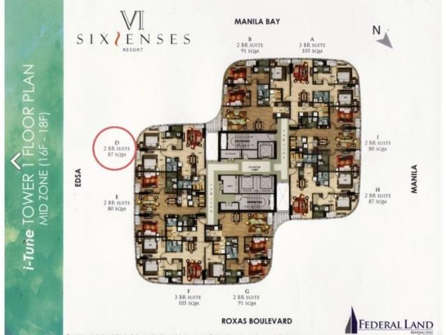 Rush Sale 2 Bedroom With Parking In Six Senses Pasay