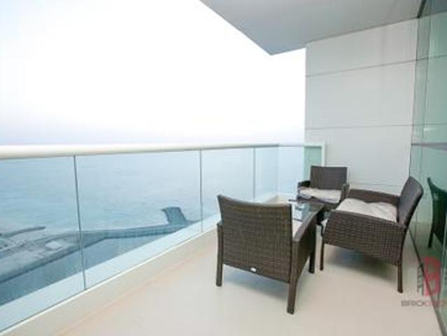 Sea And Palm View   High Floor   2 Br + Maid Room
