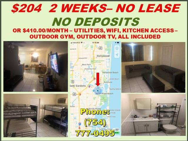 Shared Rooms Affordable, Clean, Safe Save $$ North Miami Beach