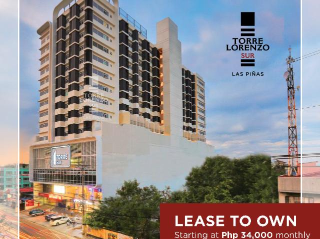 Studio Unit At Torre Lorenzo Sur With Lease To Own Option, Las Pinas