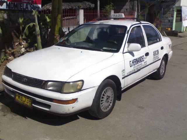 Taxi for sale 1996 mdl toyota corolla xl line til 2013