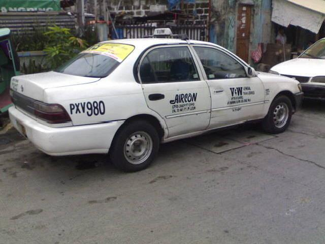 Taxi For Sale! 1997 Toyota Corolla With Taxi Line Valid Until 2012