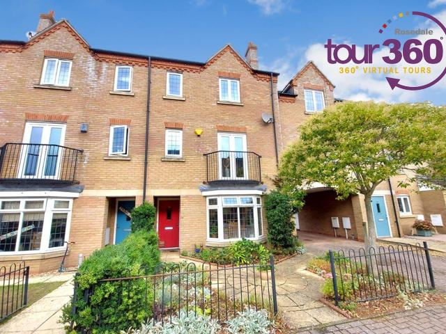 Terraced 4 Bedroom House For Sale In Fen Field Mews, Deeping St James, Peterborough, Pe6 O...
