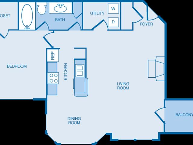 The Legends At Indian Springs A3 1 Bedroom Deluxe