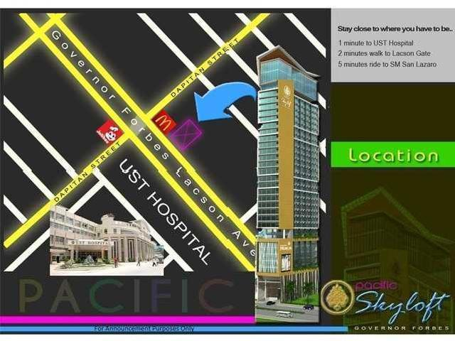 The Pacific Skyloft Tower Infront Ust Manila