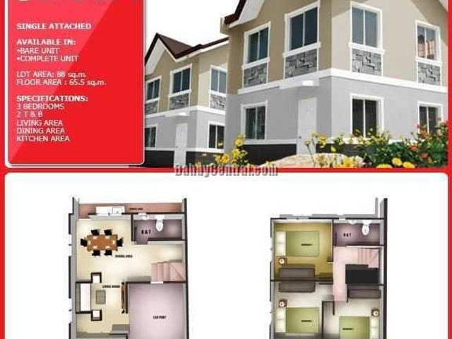 The Veraneo Carnation Single Attached House In Kawit Cavite