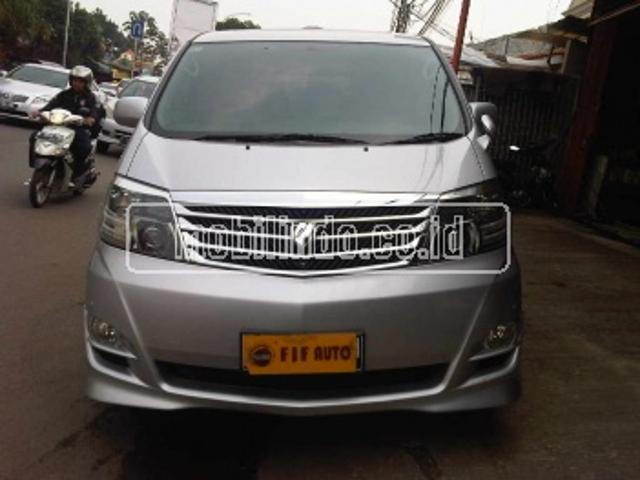 Toyota alphard 2 4 asg at 2007 silver
