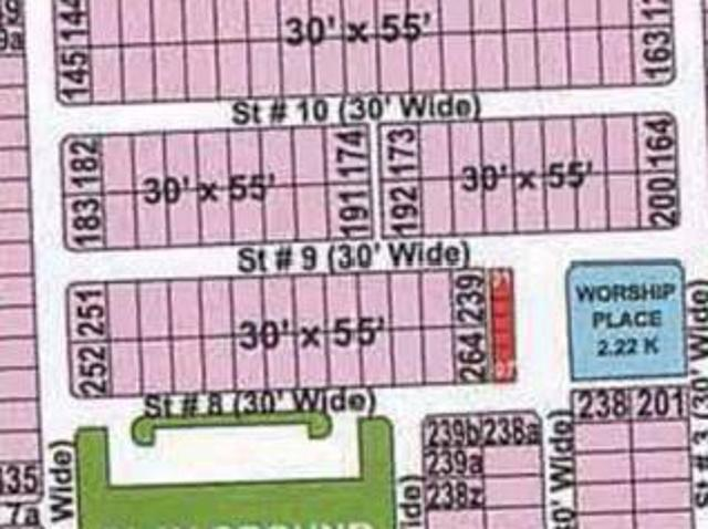 Usman Block 7m Plot No 238r For Sale In Bahria Town Rwp