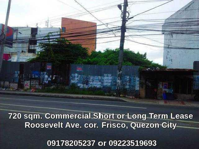 Vacant Commercial Lot For Lease Rent In Roosevelt Quezon City