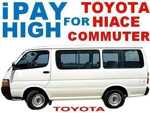We Buy 2nd Hand / 2002 2005 Model Toyota Hiace Commuter