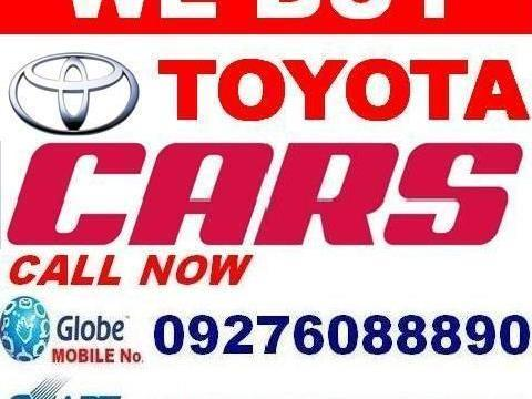 We buy any used toyota cars vans pick ups and suvs