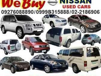 We buy nissan cars van pick up and suv