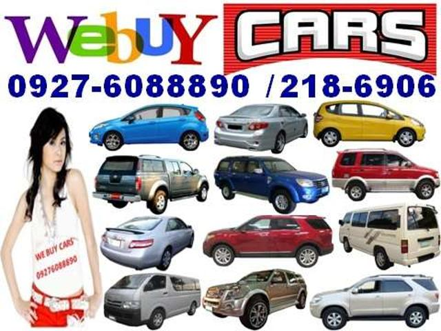 We Buy Second Hand Cars, Vans Pick Up's, And Suv's