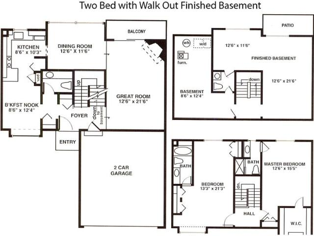 Weatherstone Townhouses North 2 Br 3 Bath