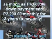 3 yrs to pay low down payment motorcycles