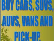 Buying cars suvs auvs vans and pick up