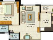 For Sale: 661 Sq Ft 1 Bhk + 1t Apartments In Adani Pratham Near Nirma University On Sg Hig...