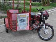Kawasaki barako 175 with sidecar for delivery