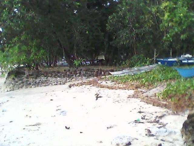 White Beach Lot With Two Houses