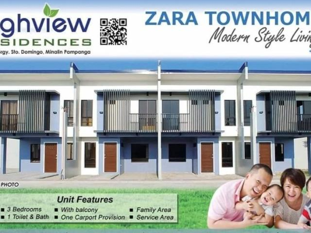 Zara Townhomes Rent To Own House And Lot